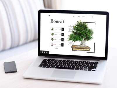 Bonsai Landing page