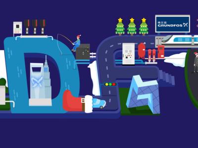 Grundfos Christmas Poster