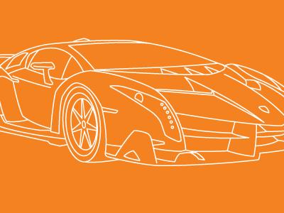Lamborghini Veneno Roadster by Sam Burgon on Dribbble