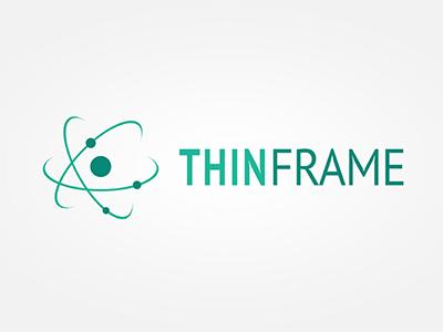 ThinFrame Logo logo branding identity emerald atom molecule