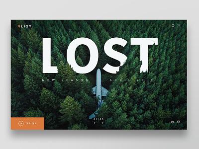Lost vod screendesign design ui ux