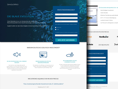 Aquaculture Investment - Landing Page