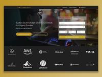 Hero banner and booking widget design
