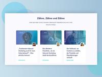 Blog section design concept
