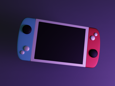 3D gaming equipment ui illustration icon 3d design blender3d blender 3dart 3d illustation gaming game console nintendo headphone render scene isometric low poly lowpoly 3d