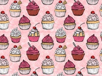 Delicious cupcake pattern