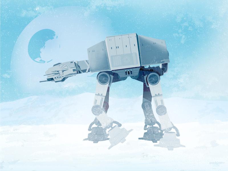 AT-XT - Starwars ! laser fanart the force the empire darkside darknight at-xt starwars turkey killer
