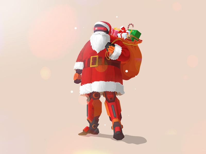 Robot Santa ! holiday super hero hero santa claus christmas iron man iron santa cyclops santa