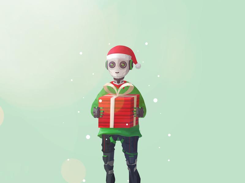 Robot Elf ! vector presents santa elf holidays santa christmas robot elf