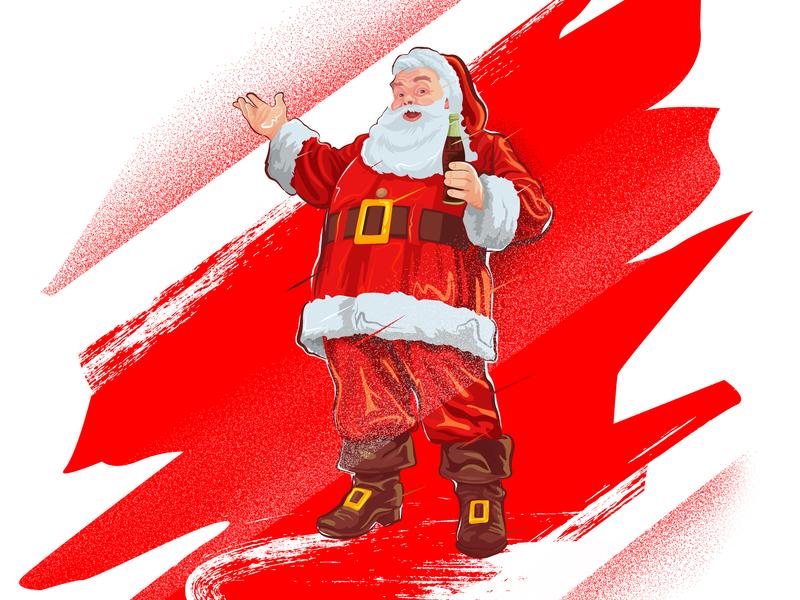 Santa Cola Classic ! cola coke gift giving holidays santa claus christmas holiday santa