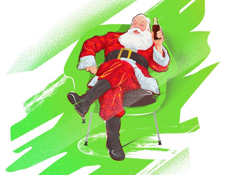 Santa Cola Classic ! christmas holiday design arf illustration santa claus cola santa