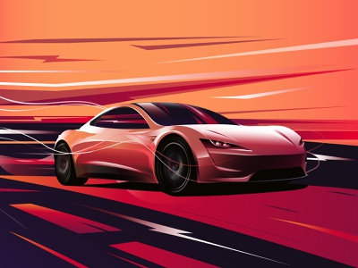 Tesla Roadster fastcar speed sportscar car roadster tesla
