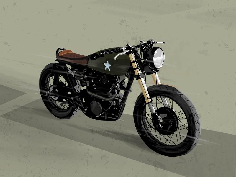 Motorcycle Illustration vintage motorcycle club illustration motorbike motor motorcycle art motorcycle