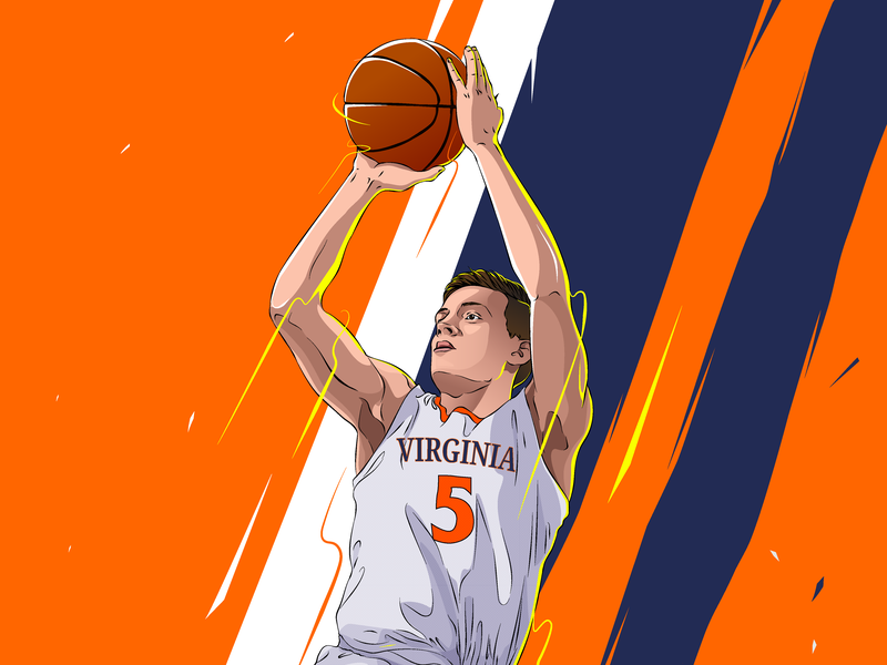 Kyle Guy ! ball sports illustration mvp basketball sports fanart