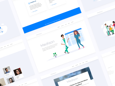 A new Landing Page for Medison GmbH desktop ui flat illustration design