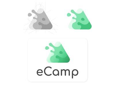 Logo Design eCamp illustration design icon vector branding logo