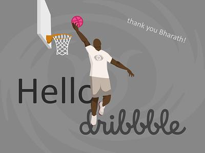 Hello Dribbble! flat illustration design hello dribbble