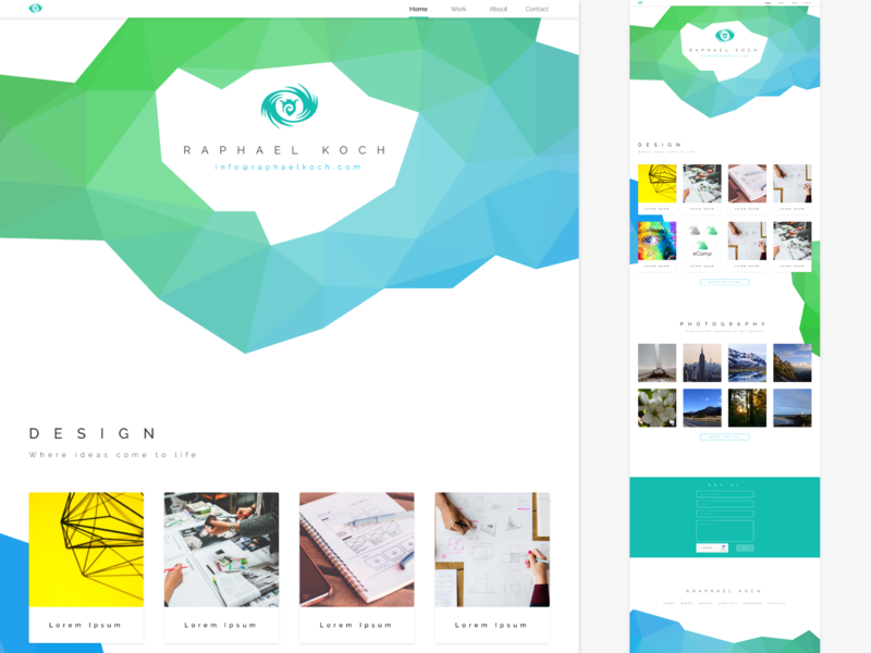 Portfolio mock-up web design ui mock-up portfolio design branding vector flat