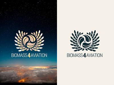 Biomass4Aviation design logo branding brand
