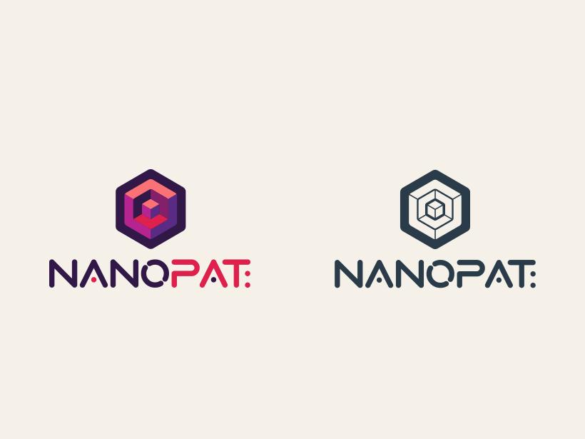 Logo Nanopat logo branding brand