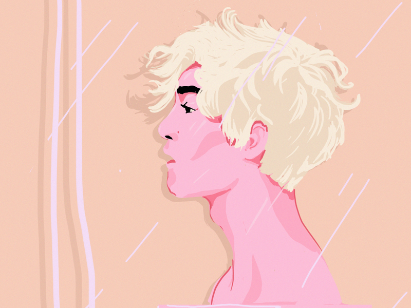 PinkBoy/daily practice. pink color psd daily illustration boy face digital painting drawing portrait
