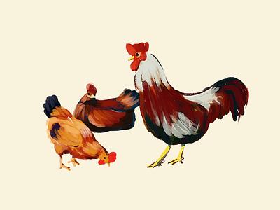 chicken/childrenbook colorful digital illustration drawing chicken kids illustration bookillustration illustration
