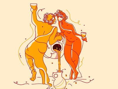 Kisi/Qvevri wine illustrator branding drawing line clean wine label graphicdesign packaging illustration