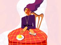Girl with Lemon