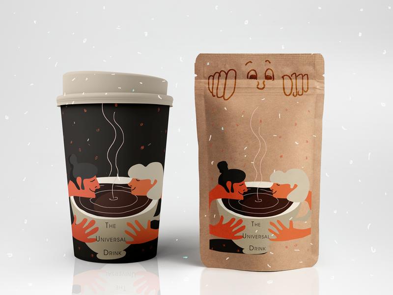 The Universal Drink/Fake Brand/Weekly Warm Up packaging label coffee illustration dribbbleweeklywarmup