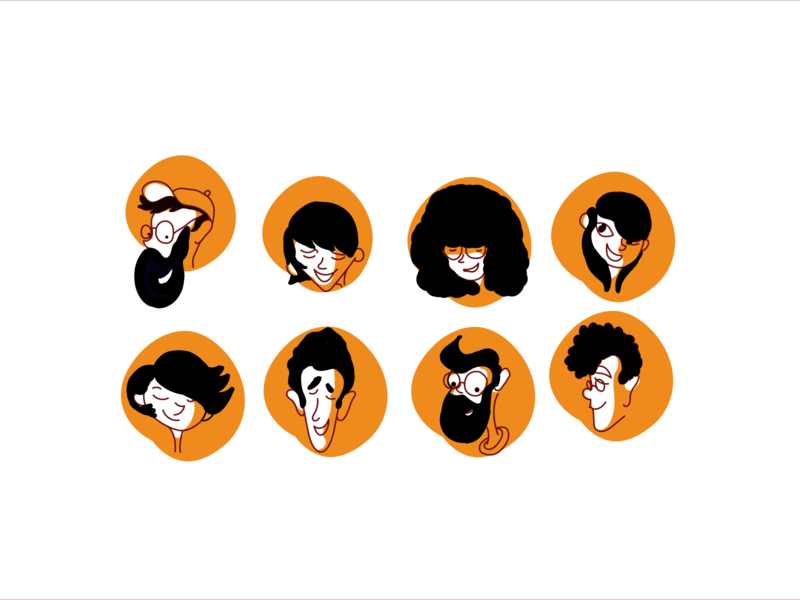 Designers/Weekly Warm Up faces mood designers drawing illustration