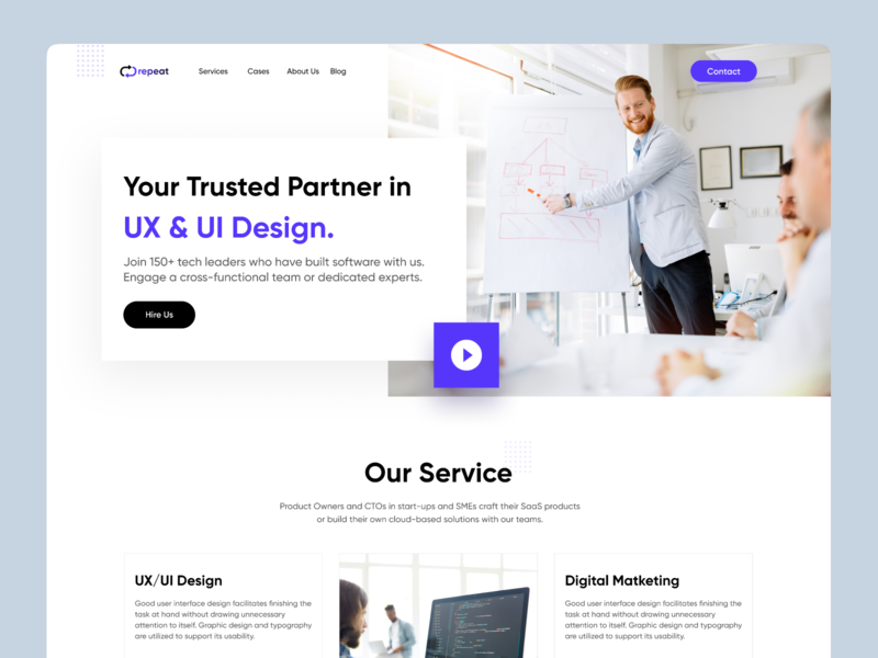 Repeat Digital Agency social app web design agency theme design product landing page service dashboard webapp nasim card features creative agency ui  ux digital agency digital art website design web design website agency landing page agency website agency