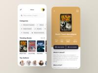 E-Book Mobile App - UX/UI news app books online store reading app reader app book app education online class course app food app product booking app social app web mobile app library bookstore bookshop books book ebook