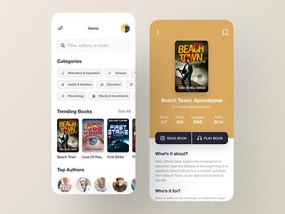 E-Book Mobile App - UX/UI book shop event product ios app booking app mobile mobile app design app uiux real estate library reading app courses reader app book store books news app education ecommerce ebook