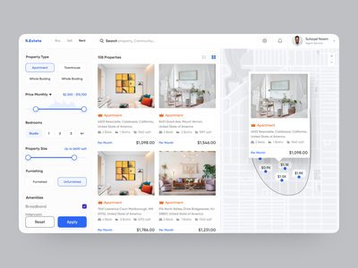 Real Estate Platform buy sell rent property management rental real estate agent furniture map campaign marketing agency property search apartment dashboad web design hotel booking home rent real estate agency product house home real estate realestate