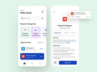 Job Search Platform - Mobile design app uiux jobs job search freelancer designer ios app booking app social app mobile app