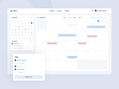 Schedule Dashboard Design project management job freelance character webapps saas management app webdesign calendar ui social app design ui ux dashboad event app event schedule todo app calendar app calendar