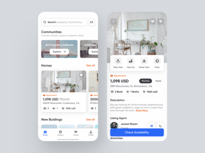 Real Estate - Mobile App hotel app buildings apartment roommate room booking hiring search platform job property management property search booking app mobile app design restaurant saudi arabia dubai real estate agency home realestateagent real estate realestate