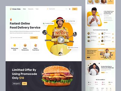 🍕Food Delivery Landing Page fcommerce ecommerce food order eat chef restaurant homepage uiux nasim website webapps web design food delivery service delivery food delivery food