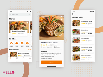 Food Delivery App platter food delivery food order mobile app ios app restuarant food delivery app product hello dribbble ios android 2018 trends lunch restaurant food app typography ux ui design app