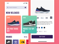 Sneakers Mobile App Design Concept