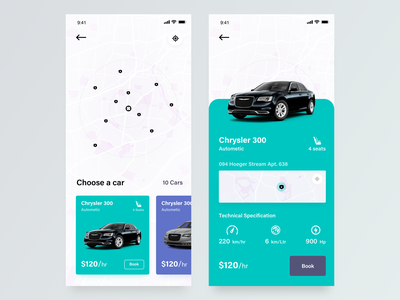 Car Rental App booking app concept car sharing taxi app ride sharing rental app cab booking car car booking car app app design mobile app product ios app