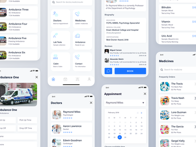 Healthcare App Design Concept health app activity appointment product design app clean android mobile app care hospital app medical app clinical dental care doctor app hospital healthcare app ios app ux ui