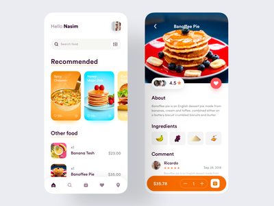 Food Service - Mobile App online food app food drive healthy food mobile app design product design uiuxdesign recipe app recipe service app webapp food delivery app delivery app delivery cooking restaurant restaurant app foodie food and drink food app food
