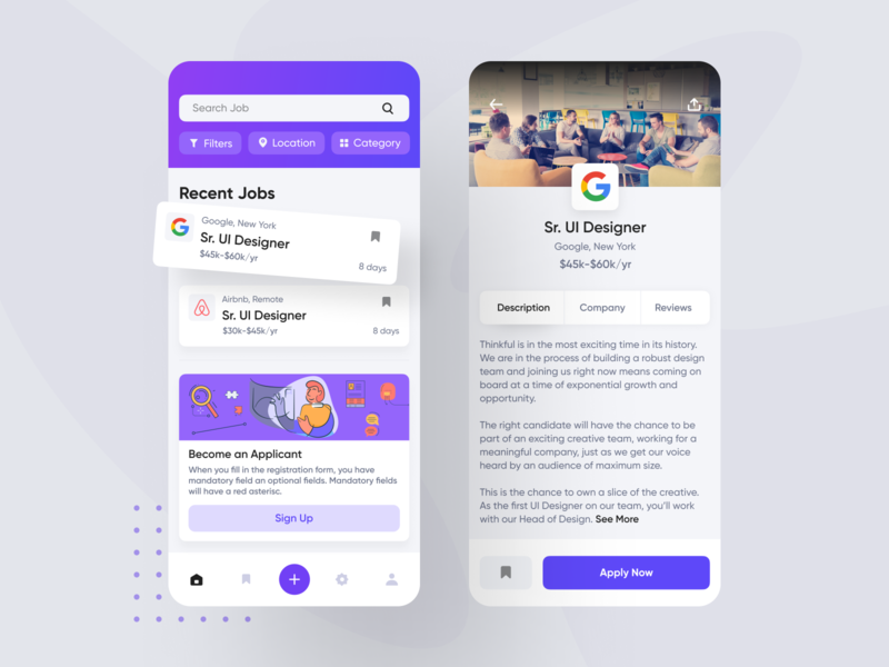 Job Listing Designs Themes Templates And Downloadable Graphic Elements On Dribbble