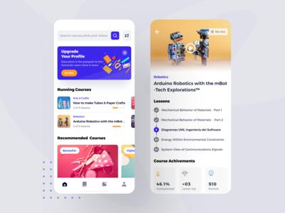 Educational Mobile App UI