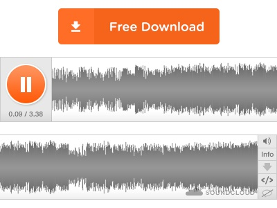 Soundcloud Mockup — Free Download! free download soundcloud psd audio player