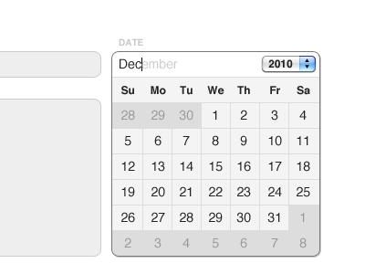 Type-a-Calendar ui form calendar clean personal