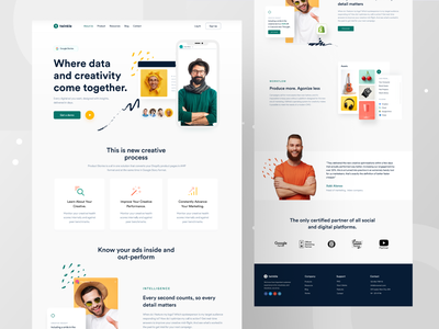 Marketing Agency Landing page software tech light colors webapp design web design marketing marketing agency redesign concept uiux landing page webdesign creative uidesign website website concept minimal landing page design landingpage landing page ui