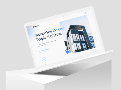 Real Estate Landing Page ux management cleanui web design redesign homepage booking apartment home rent house minimal landingpage uidesign website landing page design website concept property real estate webdesign