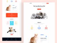 Pet Care Landing Page Design